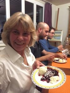 """En dessert: """"Last but not least"""" Ze gâteau aux myrtilles!"""