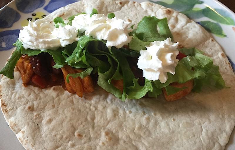 Tacos au boeuf, poulet et guacamole