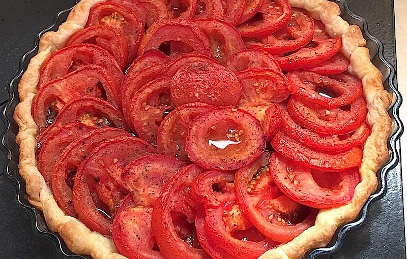 Tarte aux tomates et à la tapenade