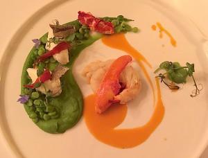 Demi-homard bleu rôti