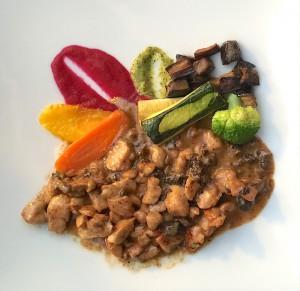 Ris de veau rissolé aux morilles