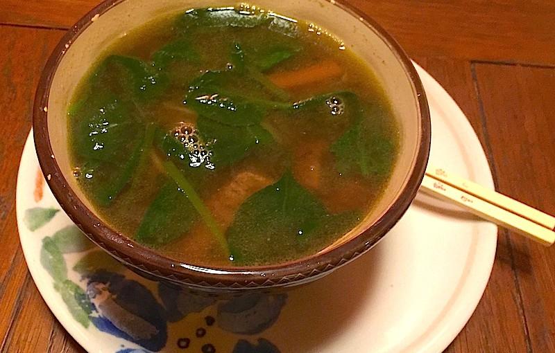 Soupe asiatique au boeuf