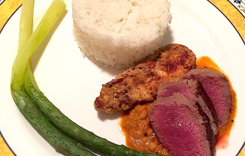Agneau et poulet tikka massala