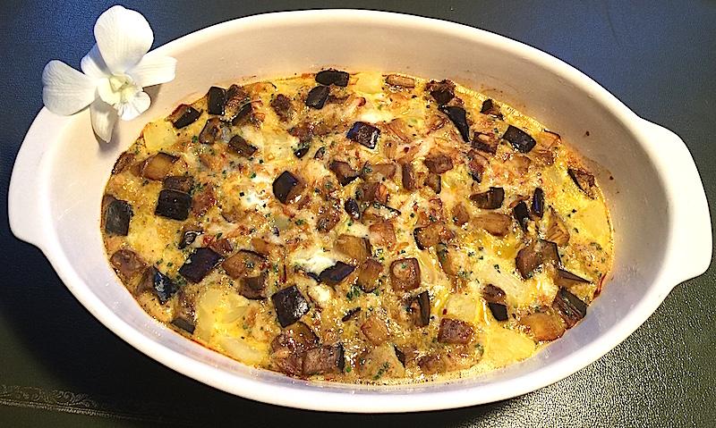 Tortilla à l'aubergine