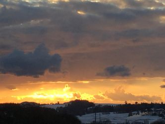 Coucher de soleil à Semsales