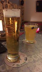 Bières blonde et blanche