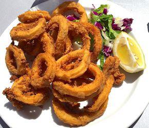 Calamars frits (un peu trop!)