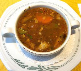Soupe au porc et aux pois chiches