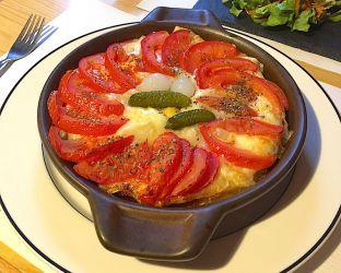 Croûte au fromage et aux tomates